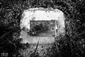 headstone of an unknown infant.