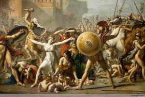The Intervention of the Sabine Women, Jacques-Louis David, 1799